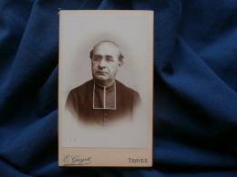 Photo CDV E. Guyot à Troyes - Beau Portrait Prêtre, Curé ,religion, Lunette L311 - Anciennes (Av. 1900)
