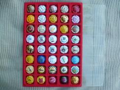 Capsule, Capsules, 40 Capsules Commémoratives, Guy Legrand Paris Colmar, Danzas, Téléthon 2003, SERNAM. - Champagne