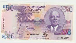 Malawi 50 Kwacha 1994 Pick 28b UNC - Malawi