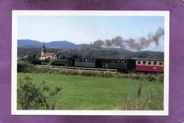 68 TRAIN La Ligne De La Doller Locomotive MALLET ABC N°2 Empanache La Campagne Eglise St Maurice De GUEWENHEIM - Frankreich
