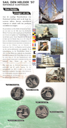 NEDERLAND SET 5 PCS € 2,-- SAIL DEN HELDER 1997 MOTIV SHIPS BIRDS IN BLISTER WITH CERTIFICATE - Pays-Bas