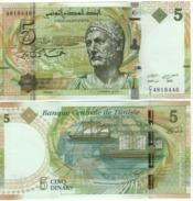 TUNISIA  5 Dinars  P95     3.20.2013    UNC - Tunisie