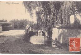 89 Junay- L' Abreuvoir, Animé, Datée 1912,Tb état..édit Véron. - Autres Communes
