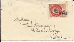 INDRE ET LOIRE 37 - TOURS  - CACHET FILIAIRE SUR MIGNONETTE - Postmark Collection (Covers)