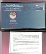 NEDERLAND SILVER MEDAL 20 JR. MARTINAIR 1958/1978 IN SPECIAL COVER IN MAP - Professionnels/De Société