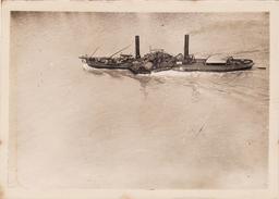 Photo 1921 KOLN ?? (Cologne) - Un Bâteau à Aubes Sur Le Rhin, à Vapeur, Péniche (A173) - Schiffe