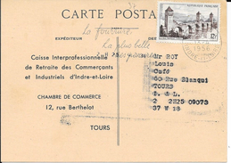 INDRE ET LOIRE 37 - TOURS RP  -  FLAMME N° 933 S   -  LA FEMME / LA PLUS BELLE / DES PARURES - 1956 - Poststempel (Briefe)