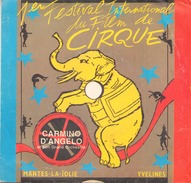 45 TOURS CARMINO D ANGELO 1 ° FESTIVAL INTERNATIONAL DU FILM DE CIRQUE MELODY 6810 AVANTI / CINE PARADE - Vinyl Records