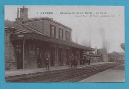 CPA 5 - Chemin De Fer Train La Gare De BAYEUX 14 - Bayeux