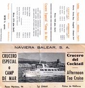"""# Dépliant Touristique Pour La """"Crucero Del Cocktail"""" Palma De Mallorca - Reiseprospekte"""