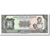 Paraguay, 5 Guaranies, 1952, KM:195b, 1952, SPL - Paraguay