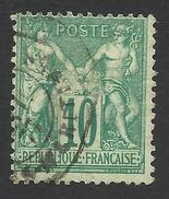 France, 10 C. 1876, Sc # 68, Mi # 60I, Used - 1876-1878 Sage (Type I)