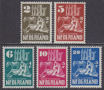 Nederland 1950 NVPH 556-560 Kerken In Oorlogstijd Postfris (MNH) - Periode 1949-1980 (Juliana)