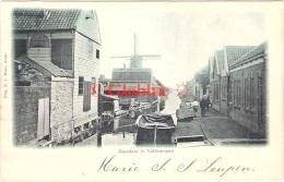 Zaandam  1e Valdeurspad Met Meubelfabriek, Molen 1902  Kleinrondstempel Serooskerke ( Schouwen ) - Zaandam