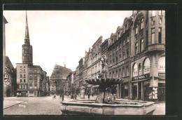 CPA Neisse, Vue De La Rue Am Ring - Schlesien