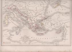 CARTES POUR SERVIR A L' HISTOIRE DE VENISE DE GENES DE LEURS COLONIES ET DU COMMERCE AUX XIIIe ET XIVe SIECLES / ITALIE - Cartes Géographiques