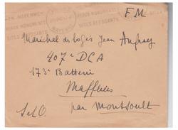FRANCE -- WW2 -- AVRIL 1940 -- DRÔLE DE GUERRE -- LETTRE EN FRANCHISE -- - Guerra De 1939-45