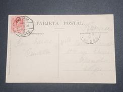 ESPAGNE - Oblitération Ambulant Sur Carte Postale En 1910 Pour La France - L 8710 - 1889-1931 Royaume: Alphonse XIII
