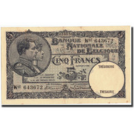 Belgique, 5 Francs, 1930, KM:97b, 1930-09-03, SUP - [ 2] 1831-... : Belgian Kingdom