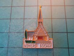 Pin1216b Pin's Pins / CALVADOS NOYERS BOCAGE EGLISE , Belle Qualité !!!    Marquage Au Dos : ---- - Villes