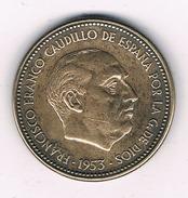 2,5 PESETA 1953 (ster 56) SPANJE /284D/ - [ 5] 1949-… : Royaume