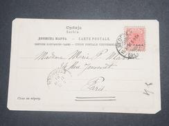 SERBIE - Carte Postale De Belgrade En 1901 Pour La France , Cachet Linéaire De La Légation De La France -  L 8719 - Serbie