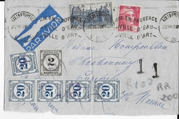 MAURITIUS - 1947 - LETTRE AIRMAIL De AIX EN PROVENCE => CUREPIPE Avec RARE TAXE  ! - Mauricio (...-1967)