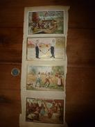 Années 1889-1920 : 4 Images Dont (Déjeuner Moyet, Duel Au 1er Sang, Nouveautés à Lyon, Chocolat Du Planteur) - Vieux Papiers