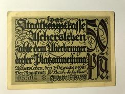 Allemagne Notgeld Uchersleben 50 Pfennig - Collections