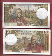 Billet De 10 Francs  Voltaire  P.3.6.1965.P    Série V.169  54389 - 10 F 1963-1973 ''Voltaire''