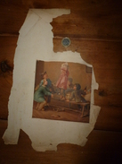 Années 1889-1920 : 1 Image (La Leçon De Lecture à L'école  18cm X 13.5cm); Autre :Bonnet D'âne (non Retenue) - Vieux Papiers