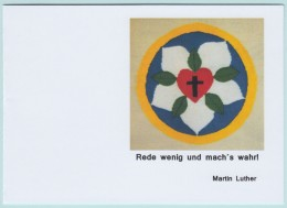 "Spruchkarte ""Martin Luther"", Lutherrose - Sonstige"