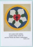 """Spruchkarte """"Martin Luther"""", Lutherrose - Christentum"""