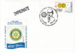 ORGANIZATIONS, ROTARY INTERNATIONAL, PAUL HARRIS, SPECIAL COVER, 2005, ROMANIA - Rotary, Lions Club