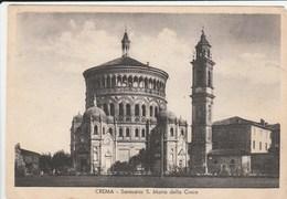 12449) CREMA SANTUARIO S. MARIA DELLA CROCE VIAGGIATA 1945 TESTO IN INGLESE - Cremona