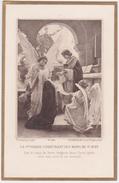 DENIS ETCHEVERRY, LA VIERGE ET ST JEAN. Marguerite DEMIANS, Communion 1909 San Remo (Italie). - Santini