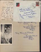 Lettre Avec écusson Légion étrangère YT 271 CAD Sidi Bel Abbes Oran 19 3 1952 Algérie Photo Et Lettre - Covers & Documents