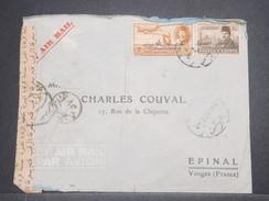 EGYPTE - Enveloppe De Alexandrie En 1952 Pour La France , Contrôle Postal , Affranchissement Plaisant - L 8731 - Covers & Documents