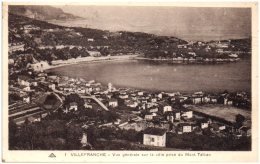 06 VILLEFRANCHE - Vue Générale Sur La Ville Prise Du Mont Talban (Recto/Verso) - Villefranche-sur-Mer