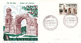 FDC FRANCE N° Yvert 1130 (SAINT- REMY) Obl Sp 1er Jour - 1950-1959