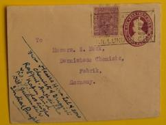 INDE - INDIA - JULLUNDUR CITY / 1934 ENTIER POSTAL POUR L ALLEMAGNE (ref LE1249) - Inde (...-1947)