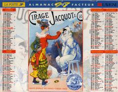 Calendrier Almanach La Poste PTT 1997 Affiches Anciennes Cirages Jacquot Et Cie Pâtes Cérès Nice - Calendriers