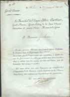 Nomination Par Marechal Bertiev De Mr Herbout Comme Lieutenant De Louveterie ( Dpt Nord) On Joint Lire Detail - Documenti Storici