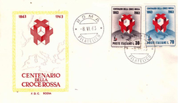 Fdc Rodia : CROCE ROSSA 1963 ; No Viaggiata; AF_Roma - F.D.C.
