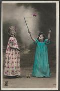 Jeunes Filles Jouant Avec Des Diabolos, Paris, 1908 - Kunzli Frères Photo CPA - Games & Toys