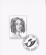 Zwart-Wit Velletje Koningin Louisa-Maria - Zwarte/witte Blaadjes