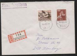 Bund - MiNr. 992 + 1056 Als MiF Auf R-Brief - Gelaufen BORGENTREICH 20.10.1980 - BRD