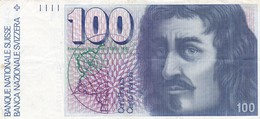 Switzerland 100 Francs Franken Franchi ND 1988 P-57i VF (free Shipping Via Registered Air Mail) - Switzerland