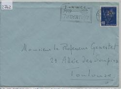 1949 Pro Juventute J132/544 - Flamme Pro Juventute Lausanne To Toulouse - Pro Juventute