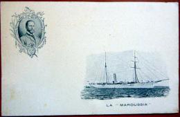 LA MAROUSSIA YACH DU DUC PHILIPPE D'ORLEANS  REGATES  EXPLORATION - Voiliers